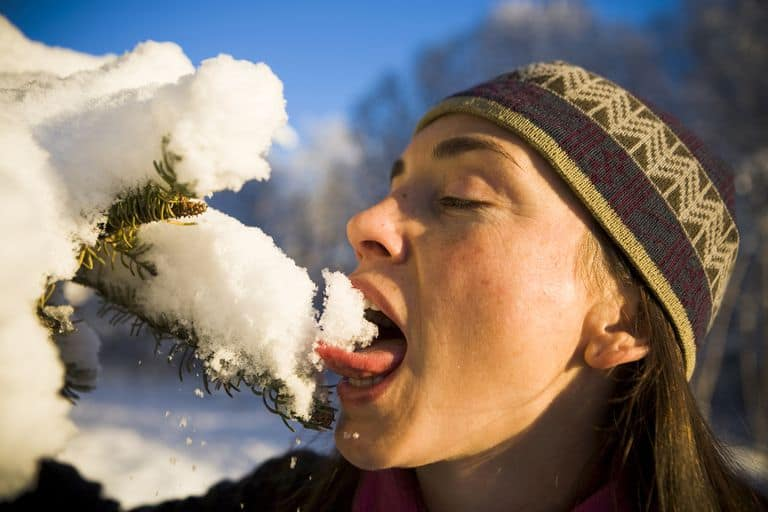 does eating snow dehydrate you